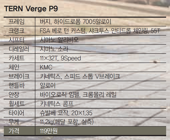 TERN Verge P9, 아름다움과 기능미의 조화
