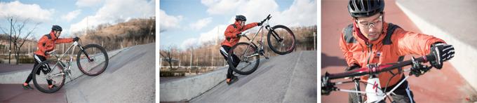 산악자전거의 기초① 파지법과 출발 자세