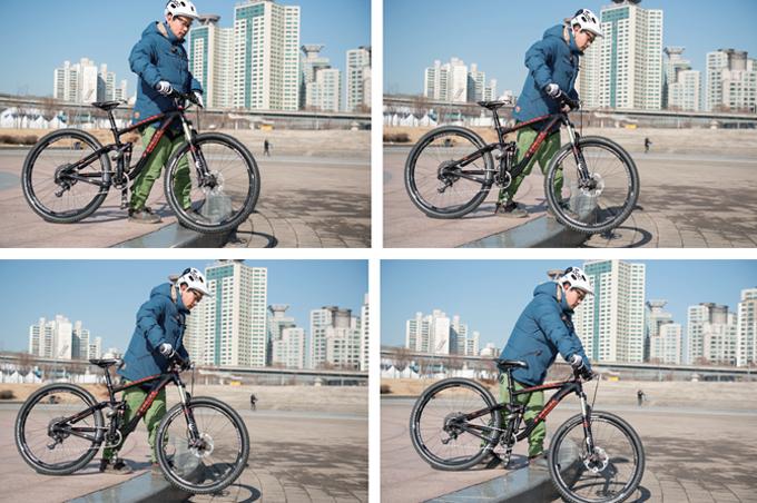 산악자전거의 기초② 오르막에서 필요한 스탠드 업 스타트와 브레이크 제동