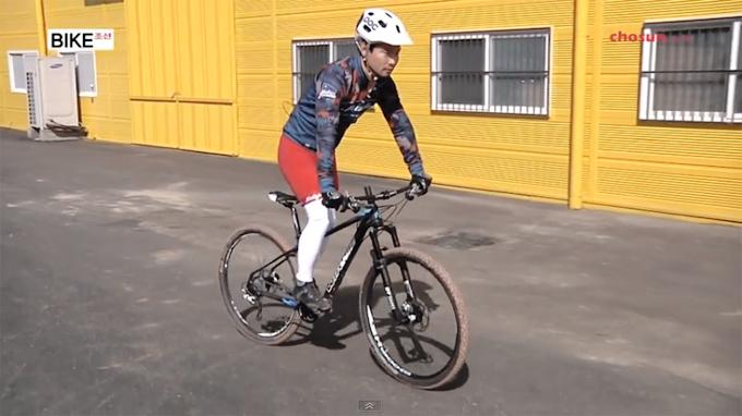 산악자전거의 기본 기술인 스탠딩 스틸 기초 연습
