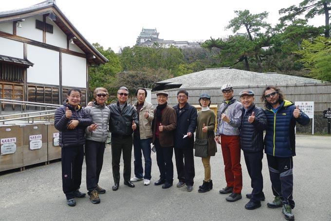 와카야마성에서 함께 한 배재고 동문 일행