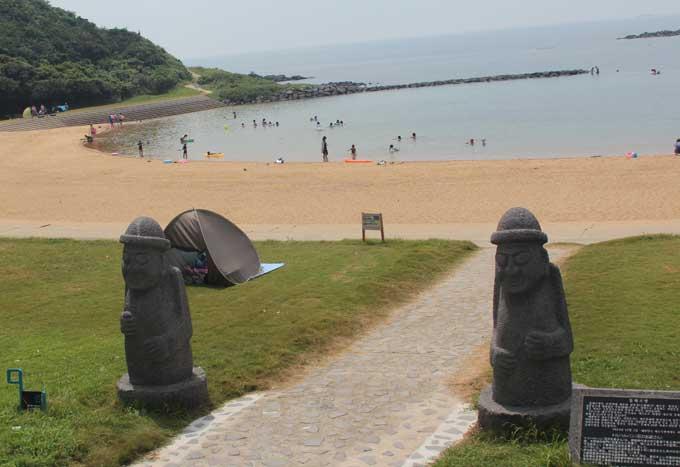 가라쓰올레길 코스중 하나인 하토미사키 해수욕장