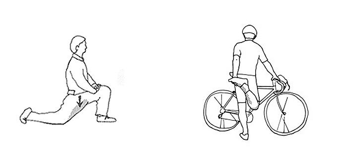 자전거 타기 전에 하면 좋은 스트레칭