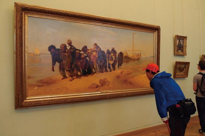 볼가강의 배끄는 사람들. 일리야 레핀의 1870년 작품