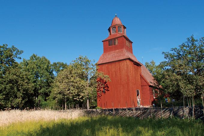 스칸센에 전시된 과거 교회의 종루