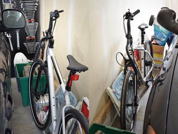 Zenstem을 이용하면 좁은 공간에 자전거를 세울 때 핸들바를 회전시킬 수 있어 편리하다.