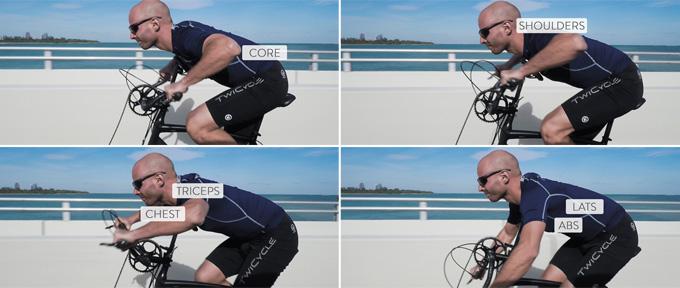 효과 높은 팔 운동 동작이 더해져 그 어떤 운동보다 효과 좋은 전신 운동이 가능하다.