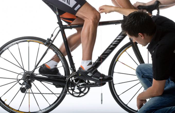 그림1. 페달스핀들 라인과 무릎라인을 조정하는 기준을 KOPS라고 한다.