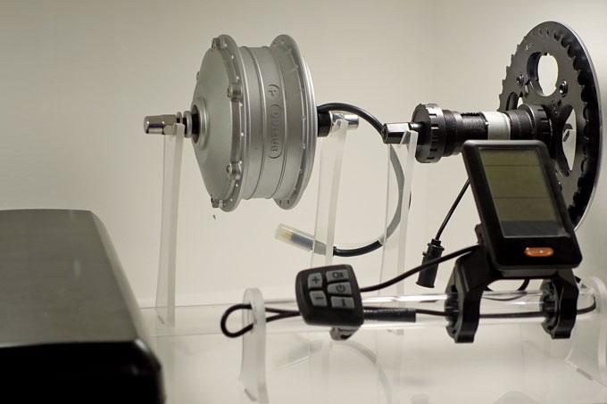 바팡의 토크센서 방식의 후륜 허브모터