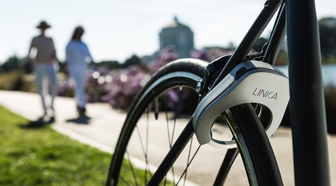 자동으로 잠기고, 열리는 자전거 자물쇠 LINKA(린카)