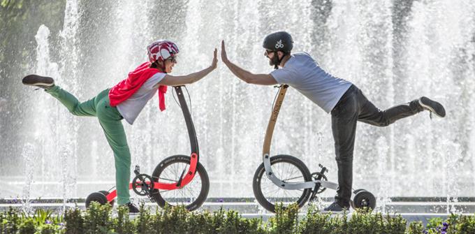 Halfbike는 자전거의 구조는 그대로 취하면서, 안장 없이 서서 페달을 굴리는 형태로, 일반 자전거와는 또 다른 매력을 선사한다.