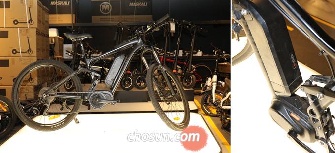 '마스칼리 KALI9'. '마스칼리'는 단국대학교와의 MOU 체결을 통해 국내 기술로 개발 된 국산 전기자전거다.