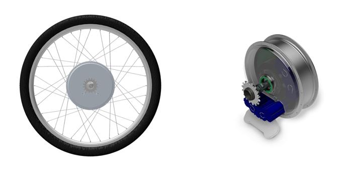 이-런휠은 간편한 조립으로 일반 자전거를 전기자전거로 바꿔주는 변환키트다.