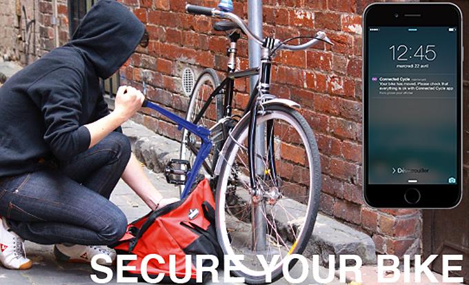 자전거 주인이 아닌 다른 누군가가 자전거를 움직이면 그 즉시 사용자의 스마트폰으로 경고 알림이 발송되어 도난 방지에도 효과적이다.