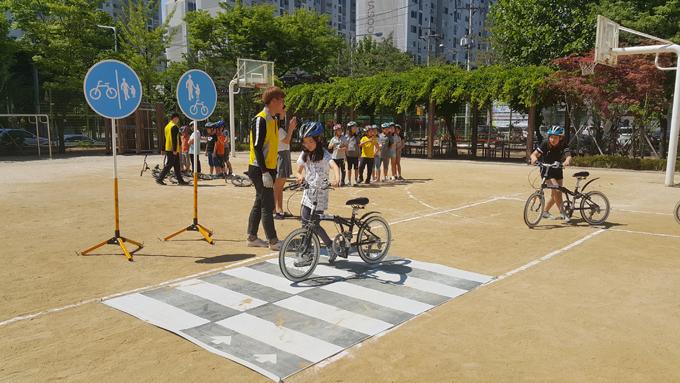 의정부시 '찾아가는 자전거 안전교육'