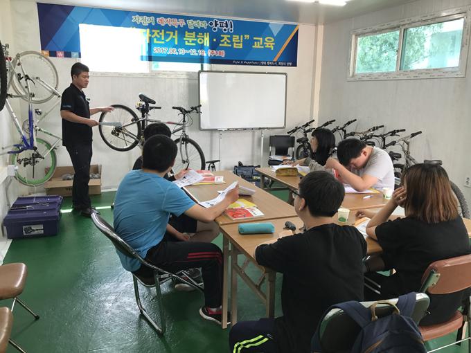 참여 대상은 각 학교장 추천으로 선발된 양평, 용문, 지평 고등학교 학생 12명으로 자전거 분해·조립 등의 직업 교육을 받게 될 예정이다.