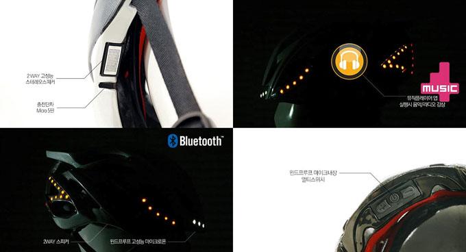 '아이클레버'는 고성능 스피커와 바람 소리를 걸러주는 윈드프루프 마이크폰, 블루투스 모듈까지 탑재해 자전거를 타면서 노래를 듣고, 깨끗한 음성으로 통화가 가능하다.