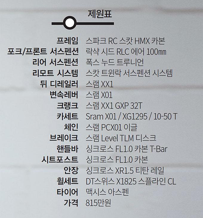 XC 세계 1위 머신 '스캇 스파크 RC900 월드컵'