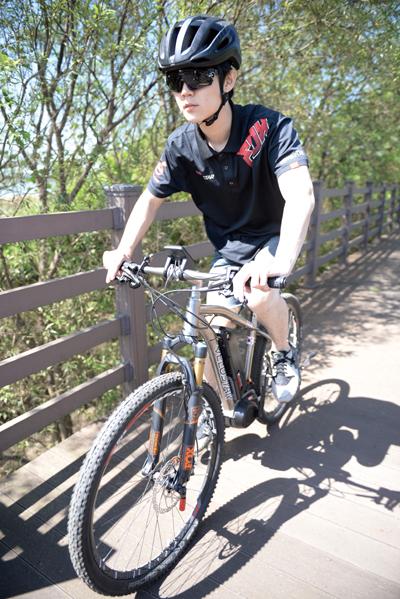 자전거를 처음 접하더라도 편안한 주행감을 느낄 수 있다.