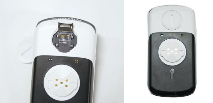 엣지 1030의 후면부. 후면부를 열면 마이크로 SD카드 마운트가 있어 용량을 확장할 수 있다.