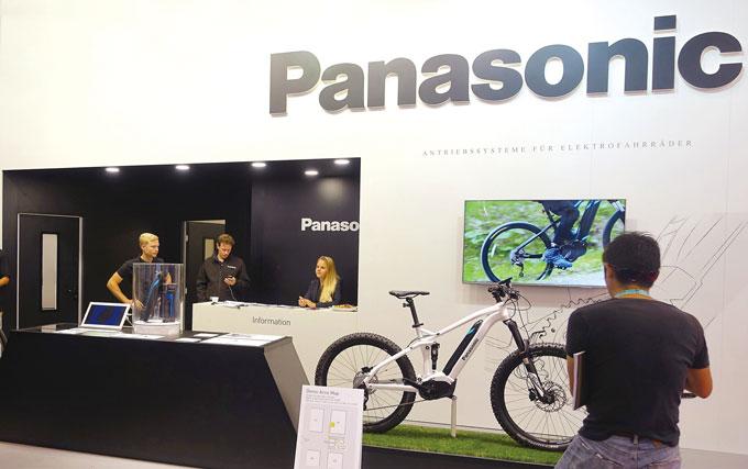 전기자전거 특허를 많이 보유하고 있는 파나소닉의 2017 유로바이크 부스