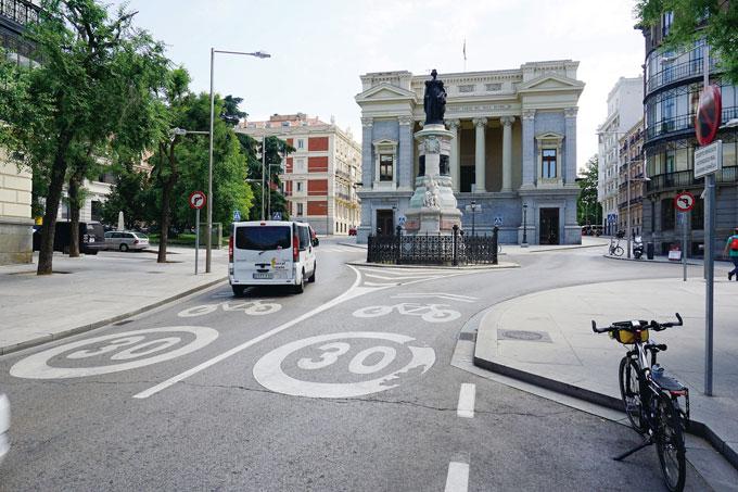 자전거도로 표시