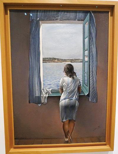 달리의 '창가에 서있는 소녀.' 초현실주의 화풍으로 들어가기 전인 1925년 작품