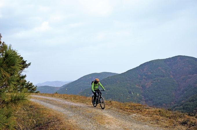 벌채로 맨 바닥을 드러낸 산기슭을 도려내고 뚫은 길은 하늘 위를 달리듯 아찔한 고도감을 더해준다.