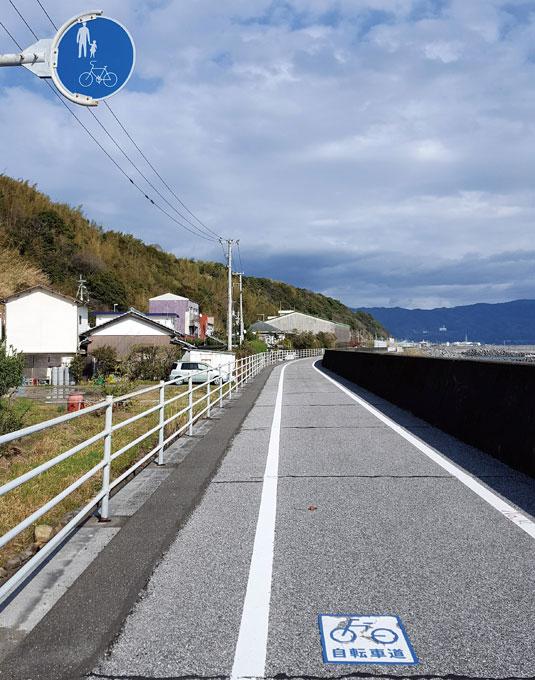 우연히 만난 고치현 남부의 해안 자전거도로.