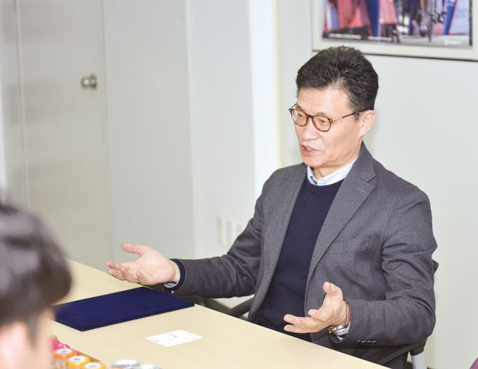 스캇 송우주 상무가 이번 협약식에 대한 소감을 이야기하고 있다.