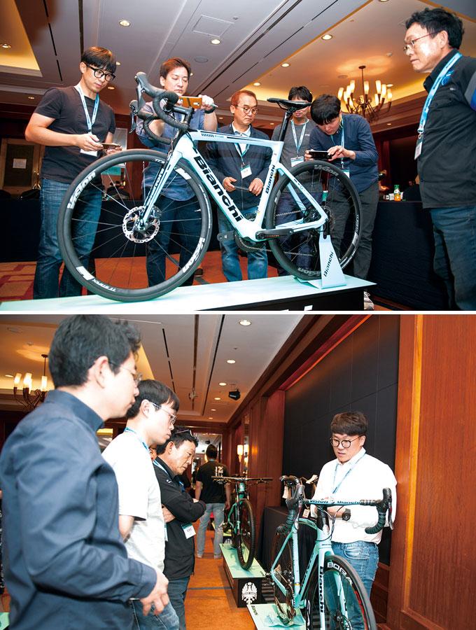 새롭게 출시된 XR 4와 전기자전거인 E-로드 아리아가 큰 관심을 받았다.