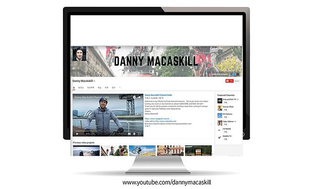 세계적인 트라이얼 라이더 대니 맥커스킬, 유튜브 채널 오픈
