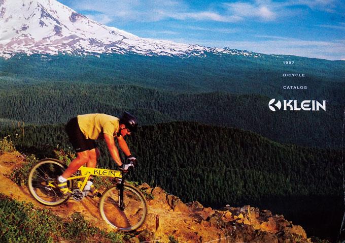 클라인의 디자인과 기술력에 반해 한때 타기도 했다. 사진은 1997년 클라인 카탈로그