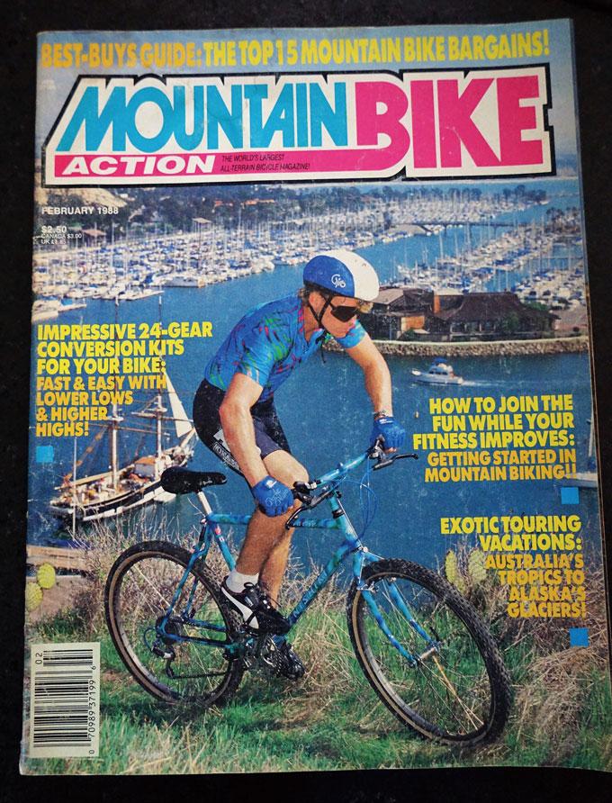 MTB 잡지의 선구자인 미국 <마운틴바이크 액션> 지 창간 제2호인 88년 2월호